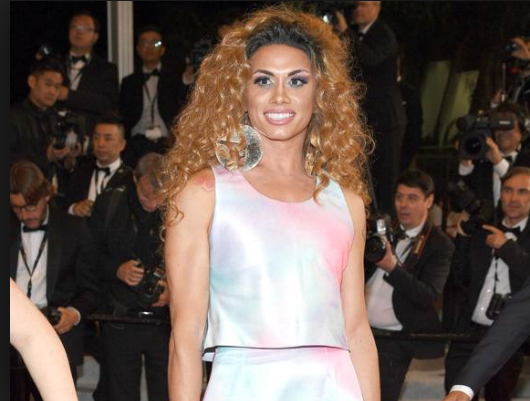 Bacurau's Global South actor - Brazilian transgender performer Silvero Pereira on the red carpet in Cannes