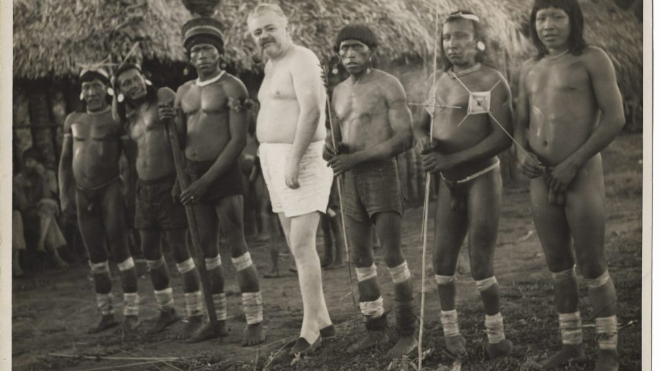 Still from the archive-based film, THE PINK INDIAN AGAINST THE INVISIBLE BEAST: NOEL NUTELS' BATTLE