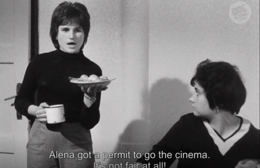 Still from the debut film, A Bagful of Fleas, by Vera Chytilová