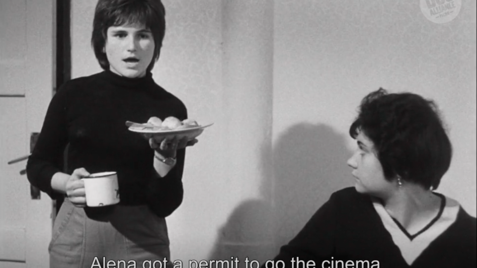 Still from the debut film, A Bagful of Fleas, by Vera Chytilová